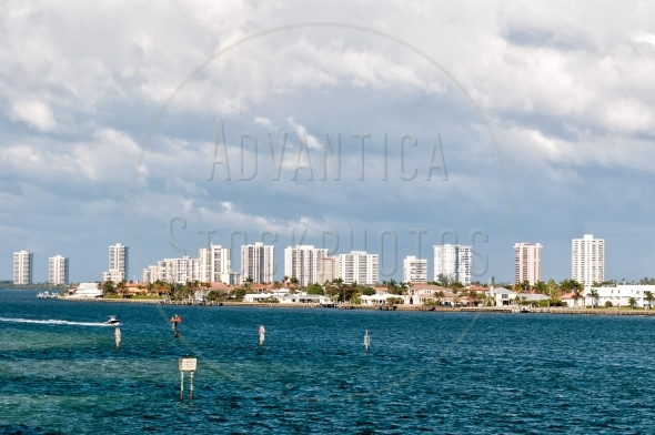 Apartment buildings in West Palm Beach Florida