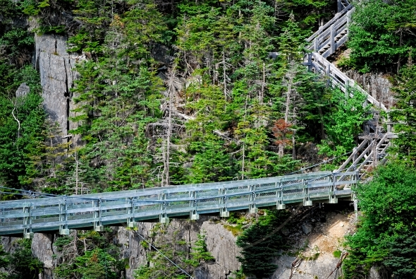 Lamanche suspension bridge in Newfoundland