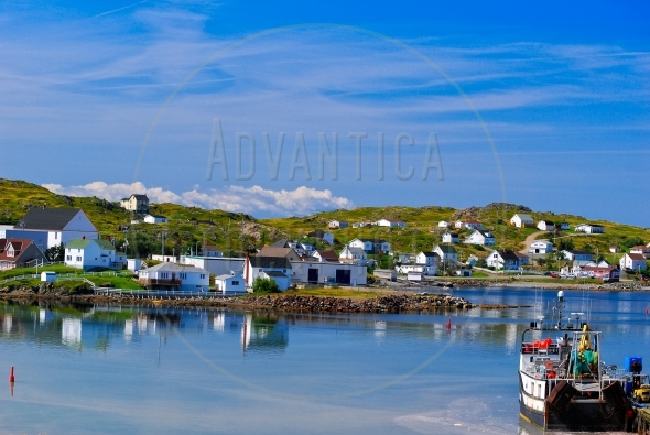 White houses in Twillingate, Newfoundland