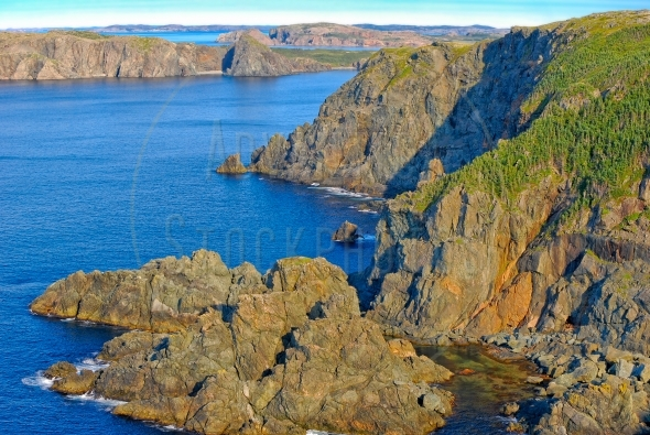 Rugged coast of north central Newfoundland