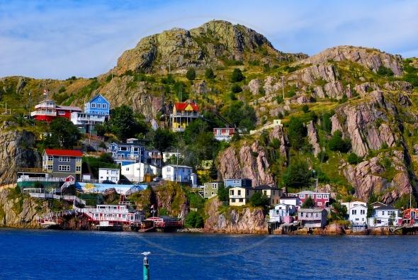 Homes on Battery Hill, St. John's Newfoundland