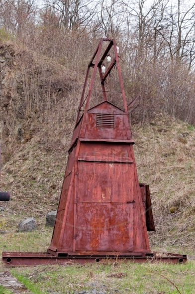 Old rusty transformer