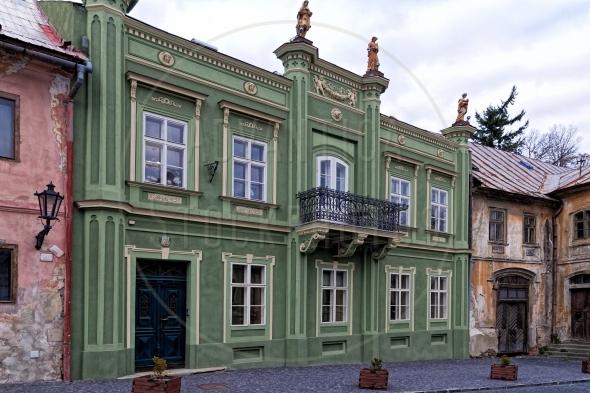 Renovated building in Banska Stavnica Slovakia