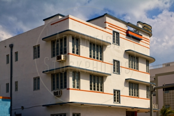 Hotel Facade In Art Deco Style Advantica Stockphotos