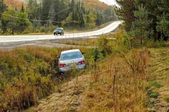 Car in a ditch / car accident