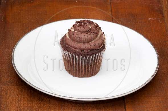 Chocolate and caramel cupcake