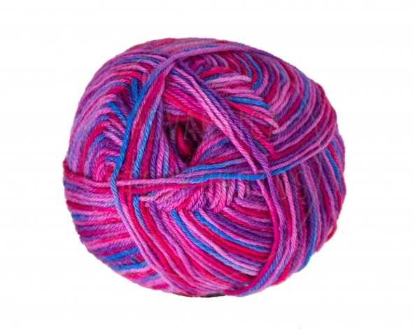 Colorful ball of knitting yarn