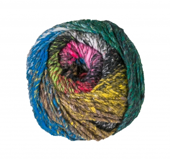 Colorful ball of knitting yarn
