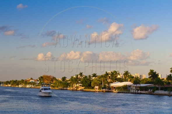 Boat on the intracoastal waterway
