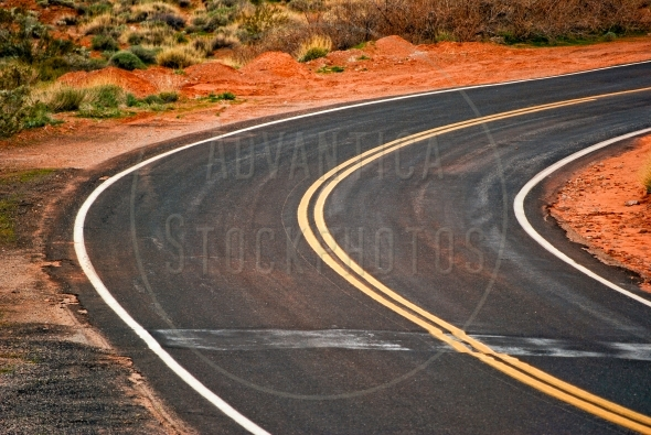 Curve on the road in Valley Of Fire