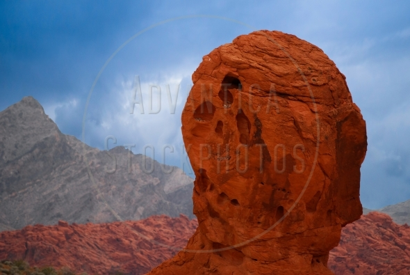 Large head resembling red rock formation