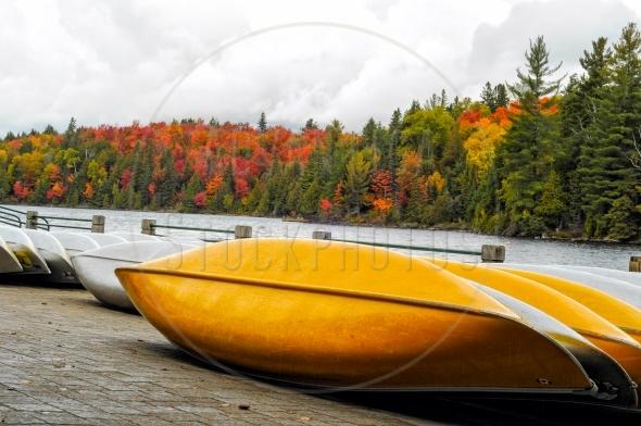 Canoes at Algonquin Park