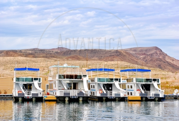 Houseboats at Lake Mead