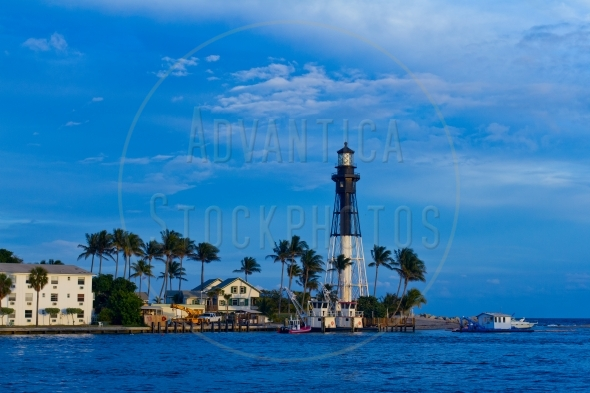 Hillsboro Inlet lighthouse in Pompano Beach