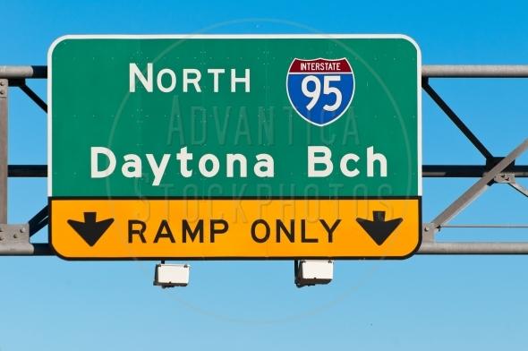 Daytona Beach Traffic Sign