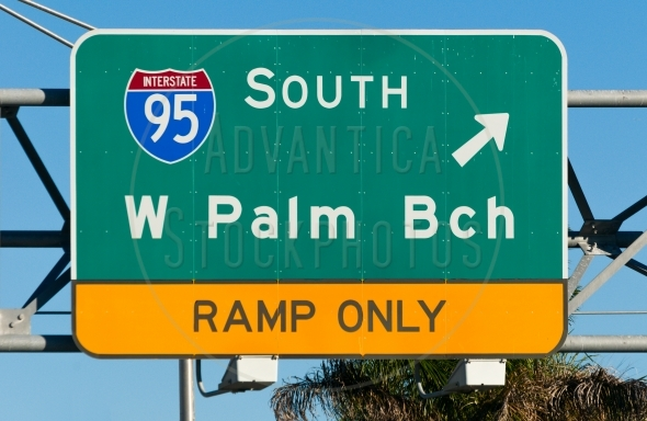 West Palm Beach Highway Sign